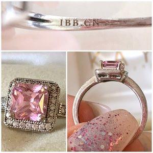 Swarovski Jewelry - Beautiful Emerald Cut Pink Swarovski Crystal Ring